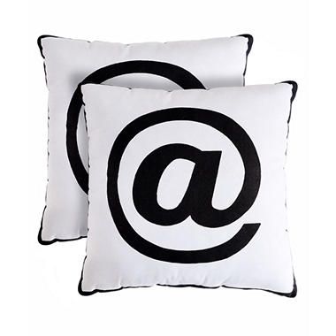 Alpha Decorative Pillows, Set of 2