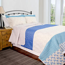 Home ID Collection Blue Stone Quilt Set