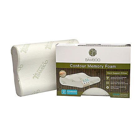 Essence Of Bamboo Contour Memory Foam Pillow Sam S Club