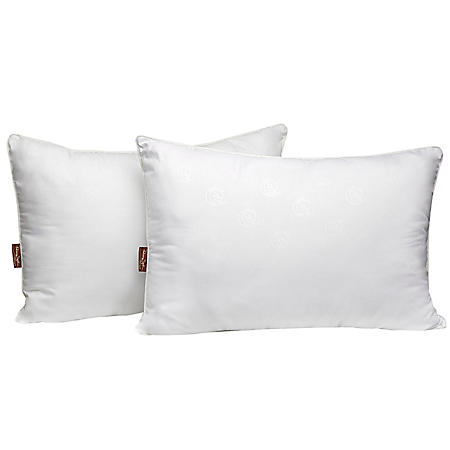 Panama Jack Luxury Embossed Microfiber Pillow, Twin Pack (Assorted Sizes)