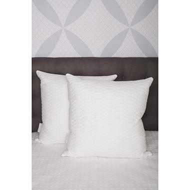 Waterford Marquis Raindrop Cotton Quilted Twin Pack, Euro Square