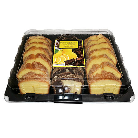Gourmet Sliced Loaf Cakes, Lemon and Marble (43 oz.)