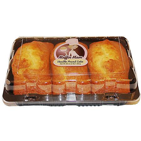 Muffin Mam Vanilla Pound Cake (48 oz., 3 pk.)