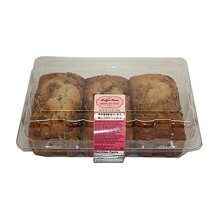 Muffin Mam Banana Nut Bread Loaf (3 pk.)