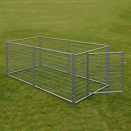 Lucky Dog Modular Welded Wire Kennel Kit - 10'L x 5'W x 4'H