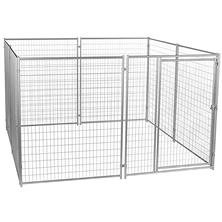 Lucky Dog Modular Welded Wire Kennel Kit - 10'L x 10'W x 6'H