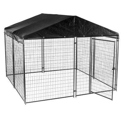 Beau Lucky Dog Black Modular Kennel With Waterproof Cover (10u0027L X 10u0027W