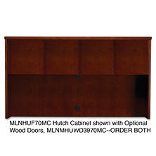 "Mayline 72"" Mira Series Veneer Assembled Hutch Frame, Select Color"