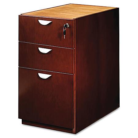 "Mayline Mira Series 15"" x 28"" Desk Pedestal, Medium Cherry"