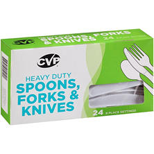 CVP Heavy Duty Spoons, Forks and Knives (24 ct.)