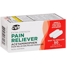 CVP Acetaminophen Pain Reliever Fever Reducer (50 ct.)