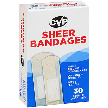CVP Sterile Assorted Sheer Bandages (30 ct.)