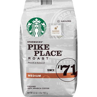 Pikes Peak Coffee >> Starbucks Ground Coffee Pike Place Roast 32 Oz Sam S Club