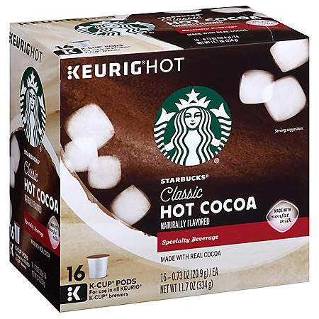 OFFLINE-Starbucks Classic Hot Cocoa K-Cups (16 ct.)