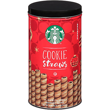 Starbucks Wrapped Cookie Straws Tin (34 ct.)