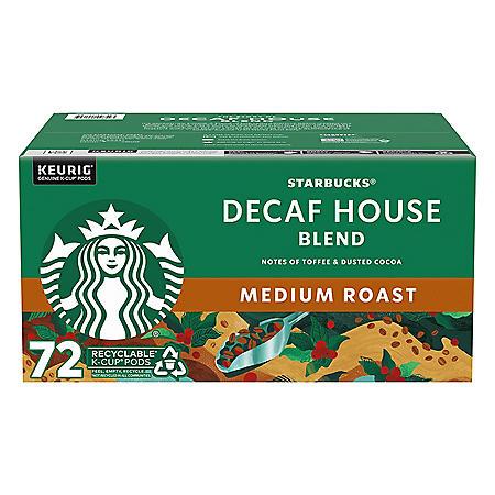 Starbucks Decaf Medium Roast K-Cups, House Blend (72 ct.)
