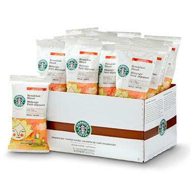 Starbucks Coffee, Breakfast Blend, Portion Packs (2.5 oz., 18 ct.)