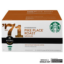 Starbucks Coffee Pike Place (54 K-Cups)