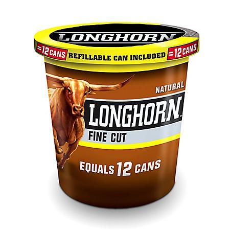 Longhorn Fine Cut Natural (14.4 oz. tub)