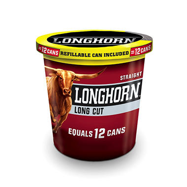 Longhorn Long Cut Straight Snuff (14.4 oz. tub)