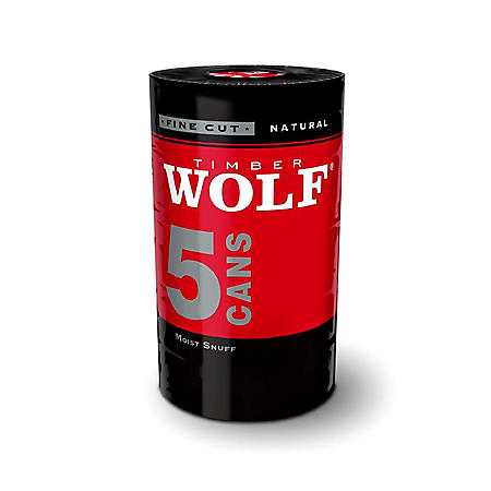 Timber Wolf Fine Cut Natural (5 cans)
