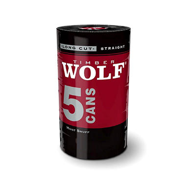 Timber Wolf Long Cut Straight (5 cans)
