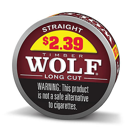 Timber Wolf Long Cut Straight Pre-Priced $2.39 (10 cans)