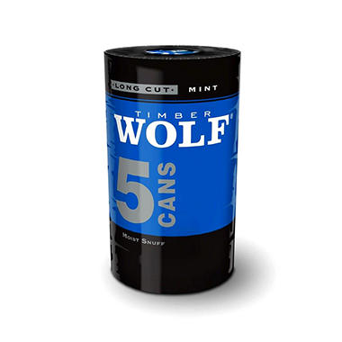 Timber Wolf Long Cut Mint - 5 can roll