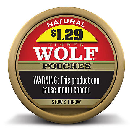 Timber Wolf Pouches Natural (10 Cans)