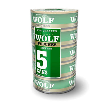Timber Wolf Wintergreen Pouches (5 cans)