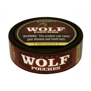Timber Wolf Straight Pouches, Pre-Priced $0.99 (10-can roll)