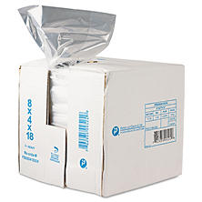 "Poly Food Bags, 8"" x 4"" x 18"" (1,000 ct.)"