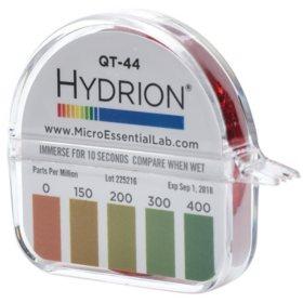 Hydrion QT-44 Quat Test Paper for 4 Chain Quats (0-400 PPM)