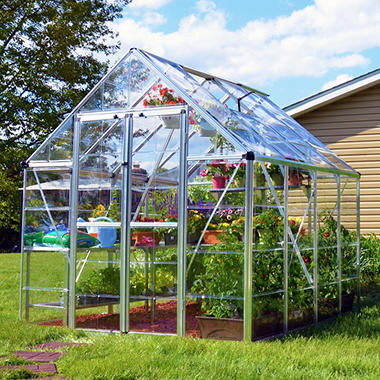 Palram Snap & Grow Silver Greenhouse - 8' × 8'