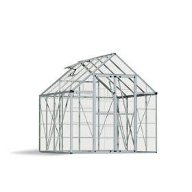 Palram Snap & Grow Silver Greenhouse - 8' × 8'