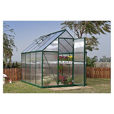 Palram Nature 6' x 8' Greenhouse - Green Frame - Twin-Wall