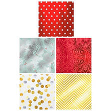 Expressions from Hallmark Foil Gift Wrap, Various Designs