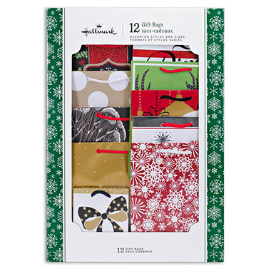 Expressions from Hallmark 12-Piece Gift Bag Assortment (Sophisticated Assortment)