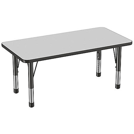 "24"" x 48"" Rectangle T-Mold Adjustable Activity Table with Chunky Legs (Assorted Colors)"