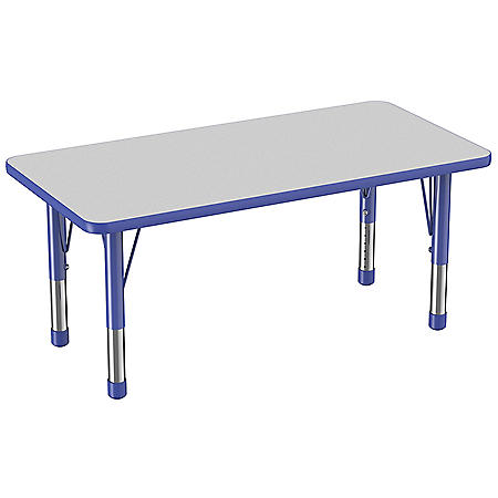 """24"""" x 48"""" Rectangle T-Mold Adjustable Activity Table with Chunky Legs (Assorted Colors)"""