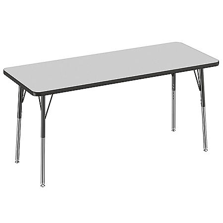 "24"" x 60"" Rectangle T-Mold Adjustable Activity Table (Assorted Options)"
