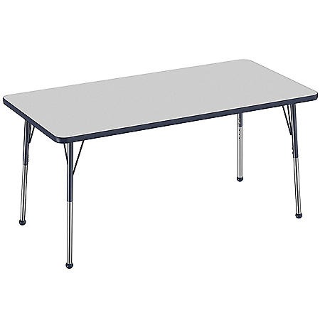 """30"""" x 60"""" Rectangle T-Mold Adjustable Activity Table with Standard Ball (Assorted Colors)"""