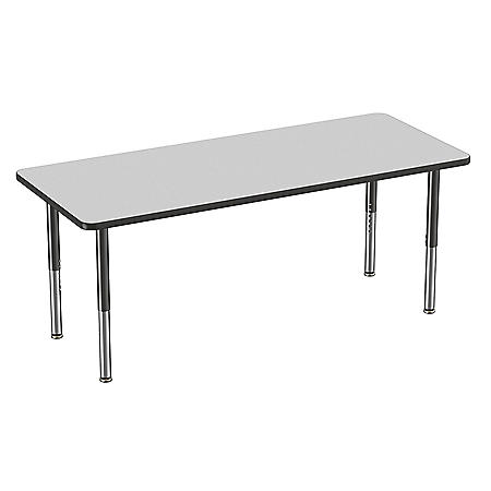 """30"""" x 72"""" Rectangle T-Mold Adjustable Activity Table with Super Leg (Assorted Colors)"""