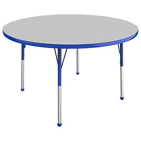 "48"" Round T-Mold Adjustable Activity Table with Standard Ball (Assorted Colors)"