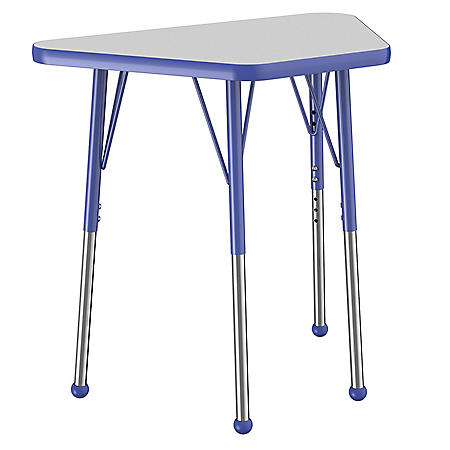 "18"" x 30"" Trapezoid T-Mold Adjustable Activity Table with Standard Ball (Assorted Colors)"