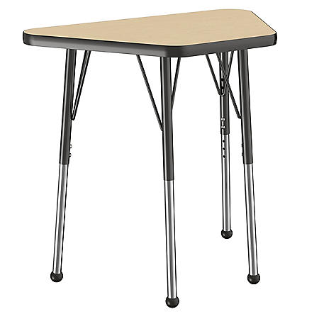 """18"""" x 30"""" Trapezoid T-Mold Adjustable Activity Table with Standard Ball (Assorted Colors)"""