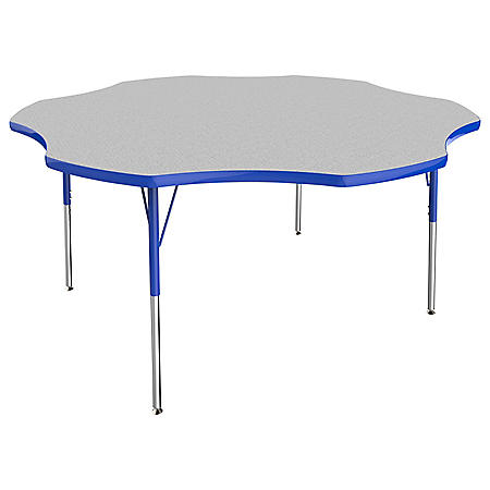 "60"" Flower T-Mold Adjustable Activity Table (Assorted Options)"