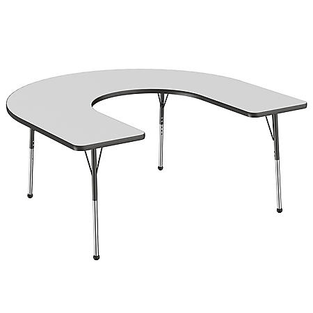 "60"" x 66"" Horseshoe T-Mold Adjustable Activity Table with Standard Ball (Assorted Colors)"