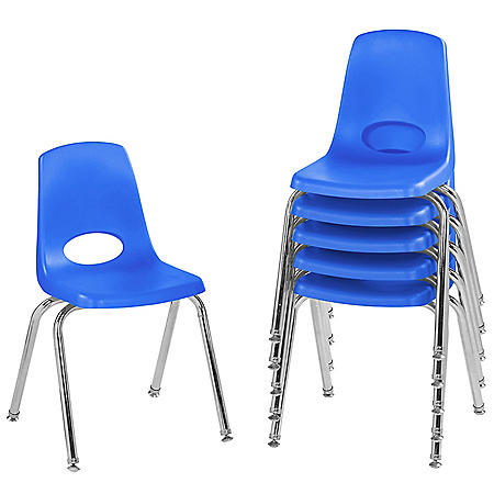 "16"" Stack Chair Swivel Glide, 6-Pack  (Assorted Colors)"