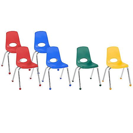 "16"" Stack Chair Ball Glide, 6-Piece - Assorted"